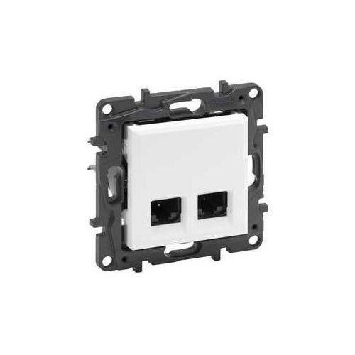 Gniazdo teleinformatyczne Legrand Niloe Step 863170 2 x RJ45 kat. 6A STP podwójne białe (3414971835726)