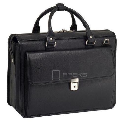 """McKlein Gresham skórzana teczka / torba na laptopa 15,6"""" - czarny (6421541597554)"""