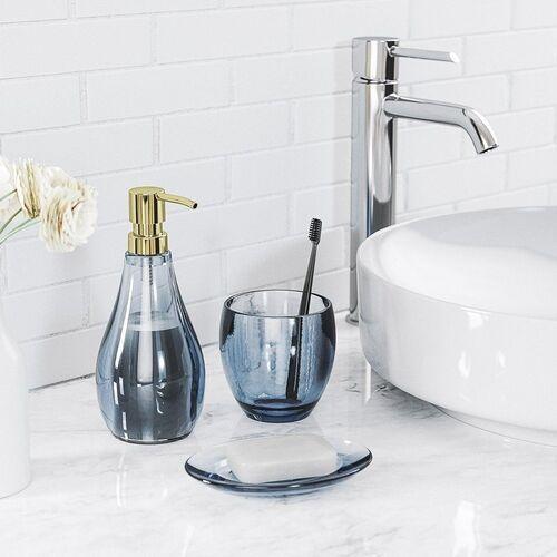 Umbra - droplet - dozownik do mydła, niebieski
