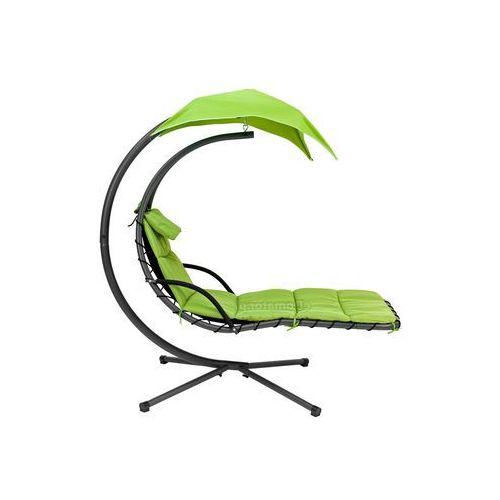 LEŻANKA HAMAK ze stelażem 1-osobowy - zielona - zielony