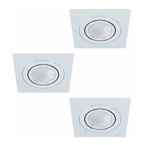 Eglo Areitio 98637 zestaw reflektorów 3x5W GU10 srebrny