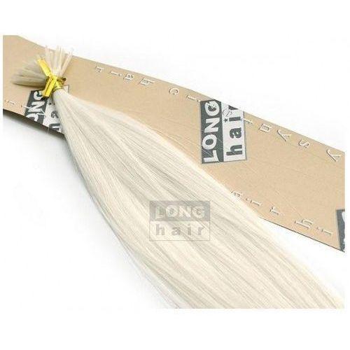 Włosy na zgrzewy syntetyczne - Kolor: #white - 20 pasm