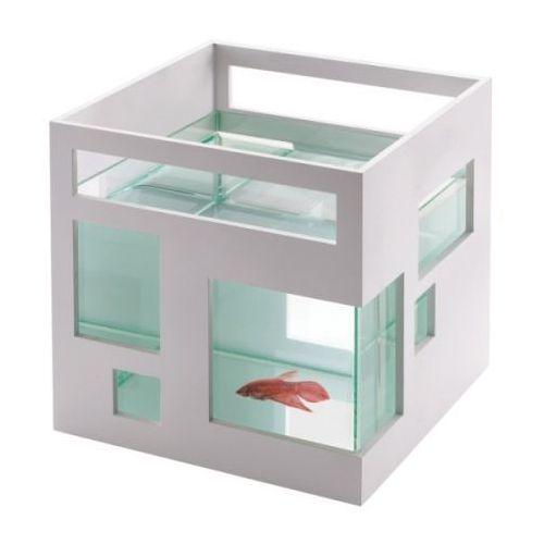 Akwarium fishhotel białe marki Umbra