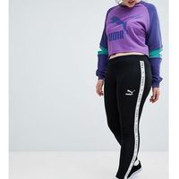 Puma Exclusive To ASOS Plus Taped Side Stripe Leggings In Black - Black
