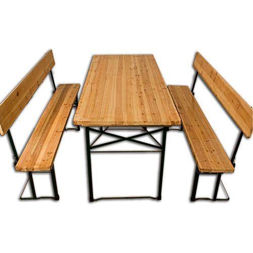 Zestaw do ogródka piwnego baru stół stolik+2 ławki marki Wideshop