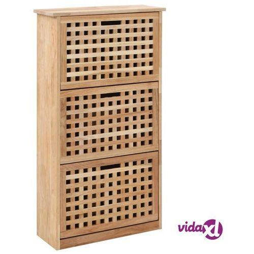 Vidaxl szafka na buty, 55x20x104 cm, lite drewno orzecha włoskiego (8719883590646)