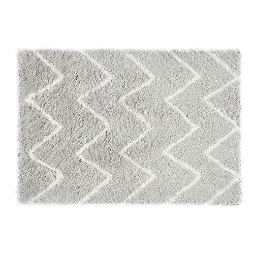 Vente-unique Dywan shaggy dresde – poliester – kolor biało-szary – 160 × 230 cm
