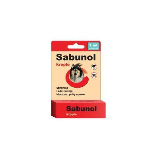 Laboratorium dermapharm Sabunol krople przeciwko pchłom i kleszczom 1 ml dla psów od 5-10 kg