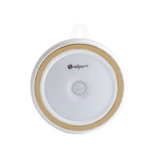 Lampka LED na baterie ML7000PIR-GD z czujnikiem ruchu i zmierzchu złota DPM (5903332586752)