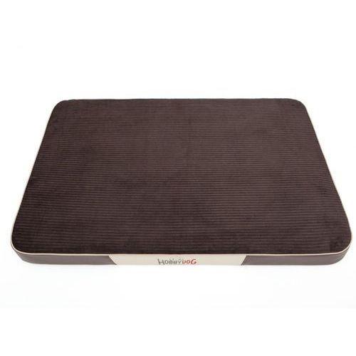 L materac premium - brąz sztruks i brązowa eko skóra marki Hobbydog