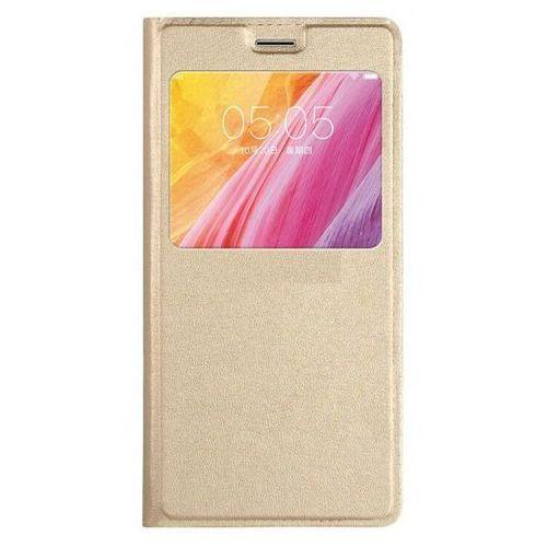 Flip Leather Złoty | Etui z klapką dla Lenovo K6 Note - Złoty