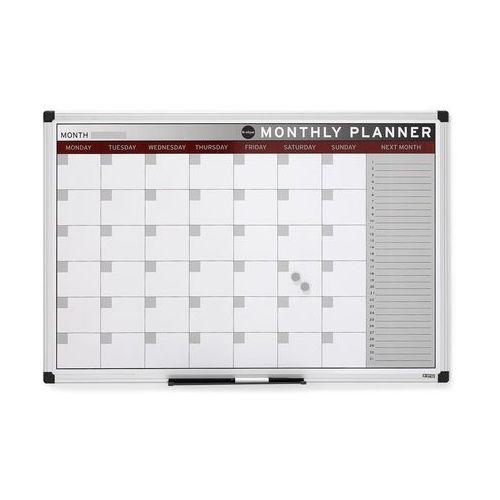 Tablica planu miesięcznego, magnetyczna, 900x600 mm, 142432