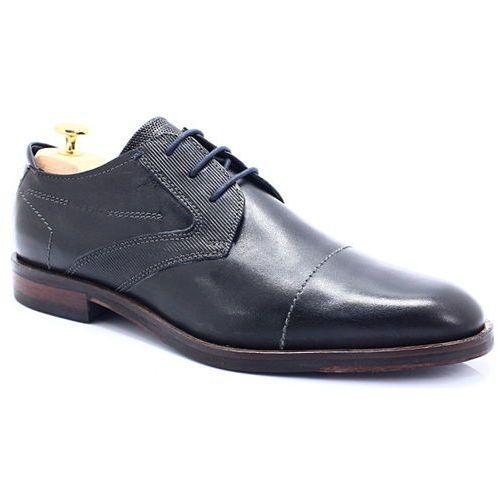 BUGATTI 312-52803-1000 CZARNE - Wizytowe buty