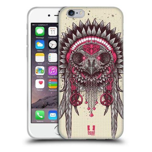 Etui silikonowe na telefon - Ethnic Owls PINK AND GREY, kolor szary