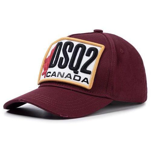 Czapka z daszkiem DSQUARED2 - Patch Cargo Baseball Caps BCM0245 05C00001 4066 Bordeaux, kolor czerwony