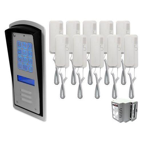 Radbit Zestaw 10-rodzinny panel domofonowy wielorodzinny z szyfratorem brc10 mod