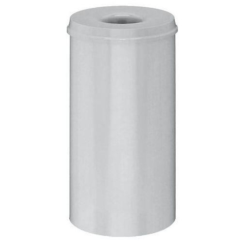 Kosz na papier, samogaszący, poj. 50 l, korpus szary / głowica gasząca szara. pr marki Vepa bins