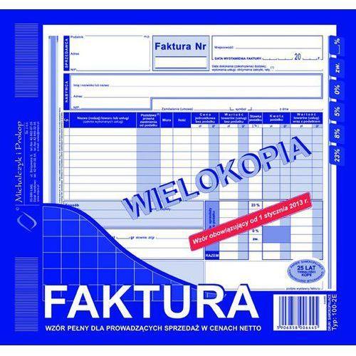 Faktura vat michalczyk&prokop 100-2e - 2/3 a4, pełna netto (wielokopia) marki Michalczyk i prokop