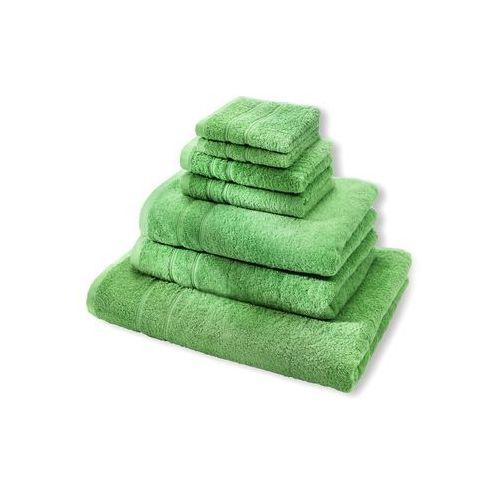 """Komplet ręczników """"deluxe"""" (7 części) zielone jabłuszko marki Bonprix"""