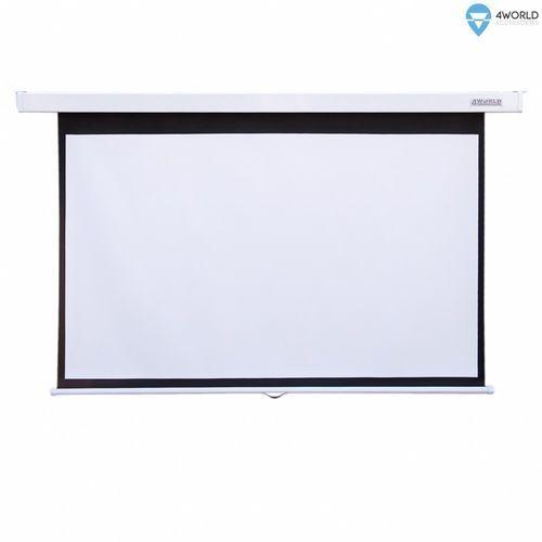 4World Ekran projekcyjny ścienny 203x152 (100'', 4:3) biały mat, 08141