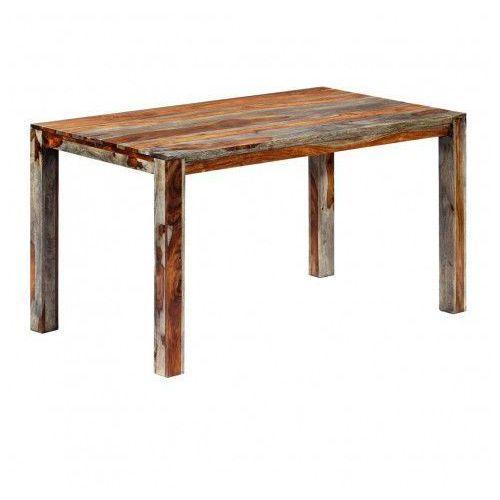 Stół z drewna sheesham vidal 2x – szary marki Elior