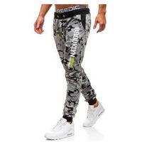 Spodnie męskie dresowe joggery moro-szare denley kk513 marki J.style