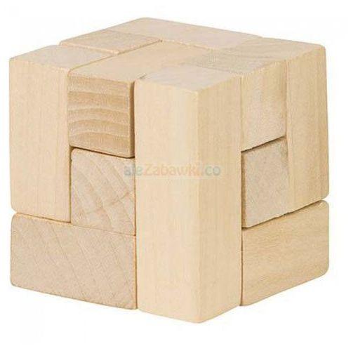 Drewniana kostka układanka logiczna - Goki