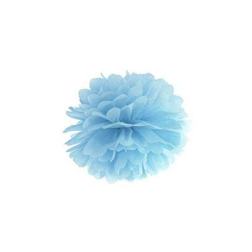 Dekoracja wisząca pompon kwiat - jasnomglistoniebieska - 25 cm - 1 szt. (5902230705326)