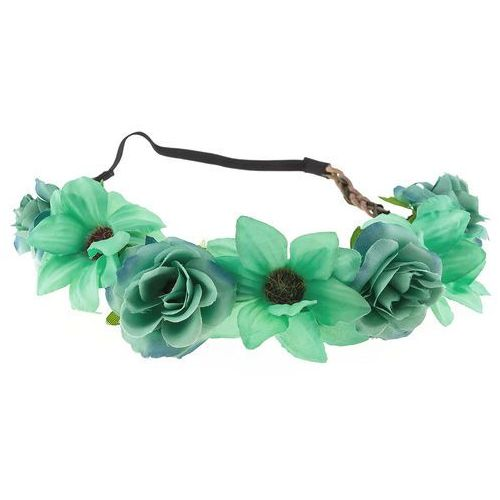 Wianek opaska kwiaty jasny zielony - jasny zielony marki Iloko