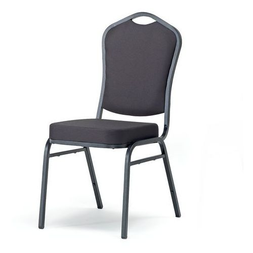 Krzesło bankietowe Chicago czarna tkanina czarny, 102421