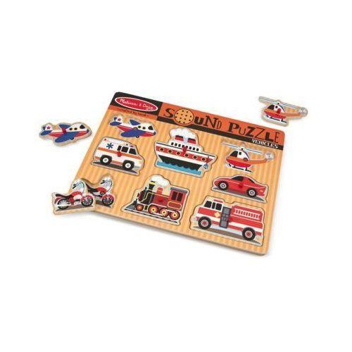 Puzzle dźwiękowe MELISSA & DOUG Pojazdy dźwiękowe 10725