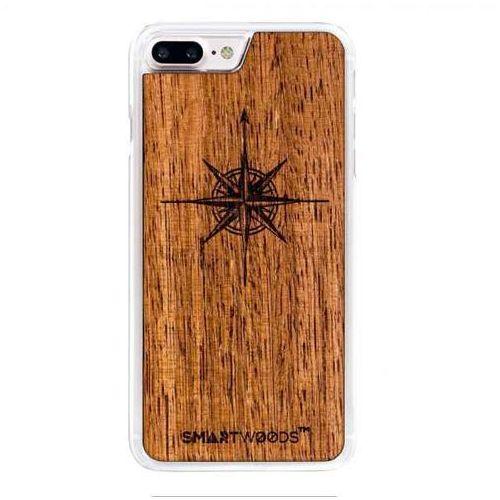Smart woods Etui smartwoods – róża wiatrów clear iphone 7 plus