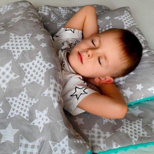 Bubaland Śpiworek przedszkolaka duże gwiazdy + worek