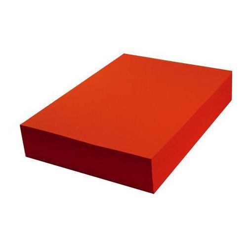 Papier techniczny kolorowy 100 ark A4 czerwony intensywny 160g