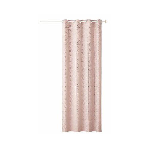 Zasłona GLAMMY różowa 140 x 250 cm na przelotkach (5902963472175)