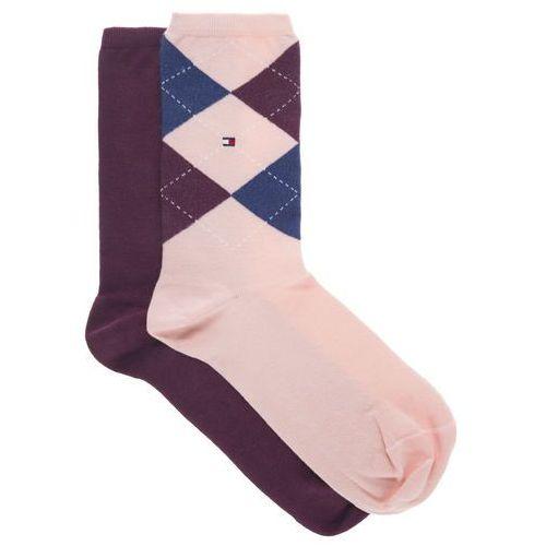 set of 2 pairs of socks czerwony różowy 35-38 marki Tommy hilfiger