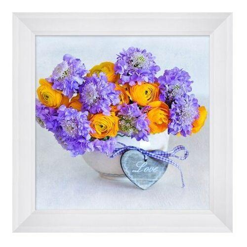 Obraz 30 x 30 cm Niebieskie kwiaty, K3030,193