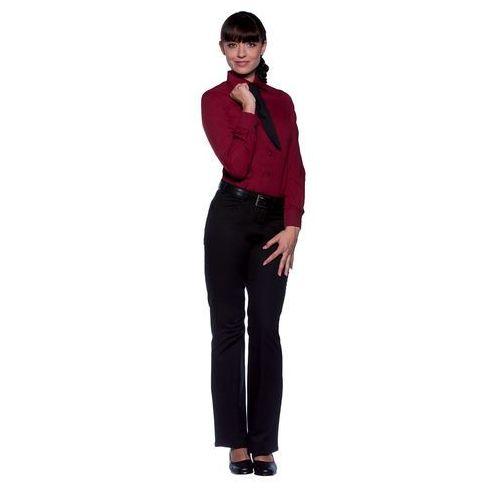 Bluzka damska z długim rękawem, rozmiar 44, bordowa | KARLOWSKY, Mia