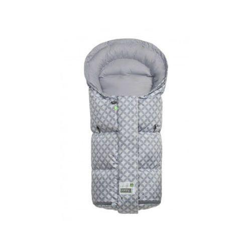 odenwälder Śpiworek na nóżki Donny Vario Ornamento cool grey (4005226148709)