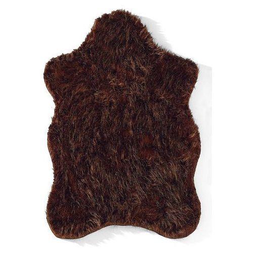 Sztuczna skóra owcza brązowy marki Bonprix