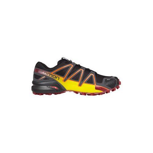 Salomon Buty trailowe speedcross 4 cs - black/magnet/ red dalhia