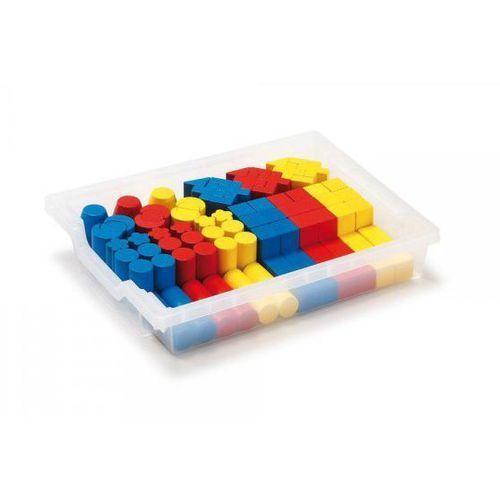 Zestaw kolorowych drewnianych klocków - zabawki dla dzieci