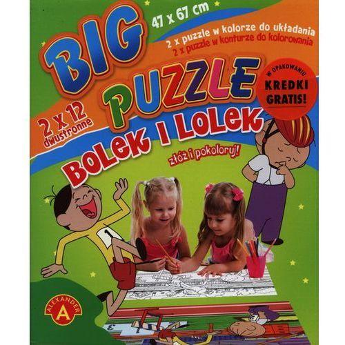 Alexander, Bolek i Lolek, puzzle dwustronne duże, 2 x 12 elementów