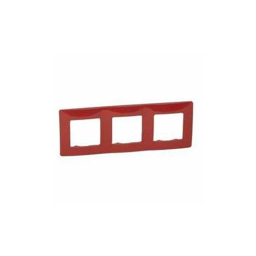 Ramka potrójna Legrand Niloe 665023 czerwona, kolor czerwony