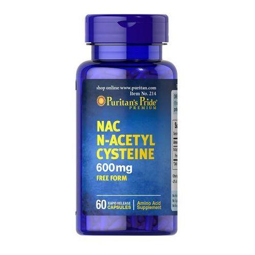 Puritan's Pride NAC N-Acetylo Cysteina 600 mg 60 kaps., postać leku: kapsułki