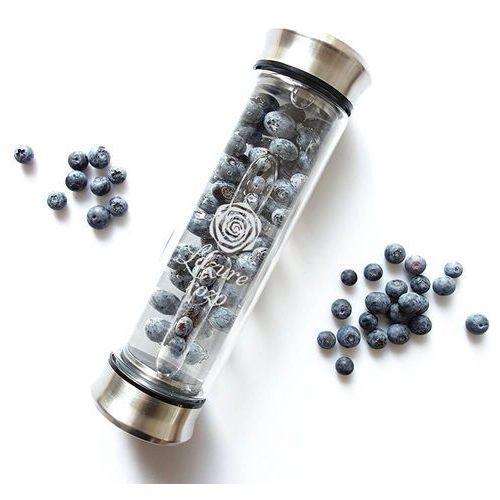 Ekologiczna, szklana butelka termiczna z zaparzaczem do naparów i owoców 420ml
