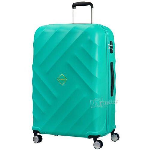 crystal glow duża walizka 76 cm / turkusowa - aqua turquoise marki American tourister
