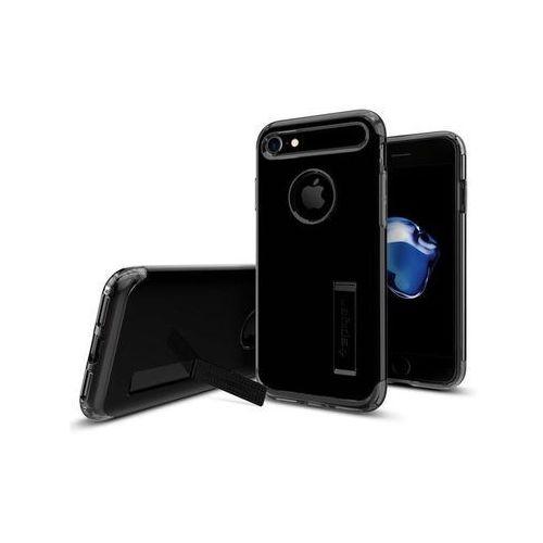 Etui Spigen Slim Armor iPhone 7, czarne z połyskiem, kolor czarny