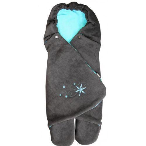 Emitex rożek dla niemowląt zoe, antracyt/aqua