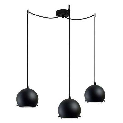 Sotto luce Lampa wisząca myoo 3/s/black matte/opal szklana oprawa kule zwis czarne matowe (1000000210101)